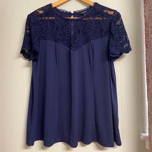 Torrid Studio Knit Lace Top